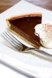 Chocolate tart gateaux Royalty Free Stock Photo