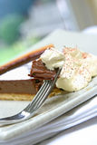 Chocolate tart gateaux Royalty Free Stock Photos