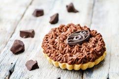 Chocolate tartlet Stock Image