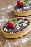 Chocolate tarts Royalty Free Stock Image