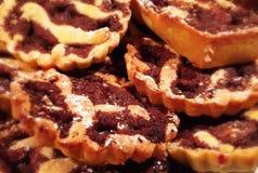 Chocolate tarts Stock Photography
