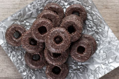 Chocolate tea biscuits Stock Images