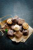 Chocolate tea biscuits Stock Photo