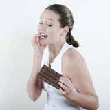 Chocolate temptation Royalty Free Stock Images