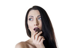 Chocolate temptation Royalty Free Stock Photos