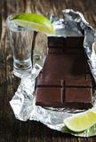 Chocolate with Tequila. Royalty Free Stock Photo