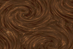 Chocolate texture. Liquid chocolate swirl pattern or background texture vector illustration