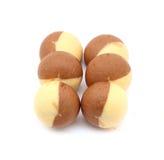 Chocolate thai mochi on white Stock Photography