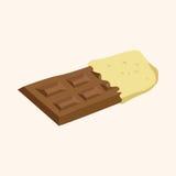 Chocolate theme elements vector,eps Royalty Free Stock Photos