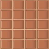 Chocolate tiles seamless texture. Tile pattern of milk chocolate. Seamless texture Stock Image