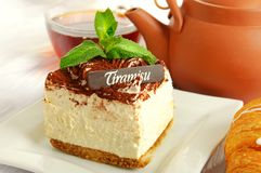 Chocolate tiramisu cake Royalty Free Stock Photos