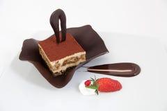 Chocolate tiramisu cake with decoration Stock Photography