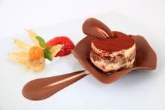 Chocolate tiramisu cake Stock Images