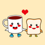 Chocolate and Toast Royalty Free Stock Image