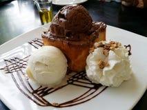 Chocolate toast Stock Image