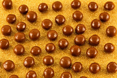 Chocolate toffe balls Stock Images