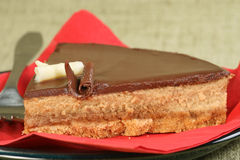 Chocolate and toffee cheesecake Royalty Free Stock Photo