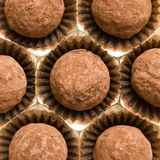 Chocolate top view Royalty Free Stock Images