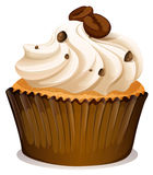Chocolate topping cupcake on white Stock Image