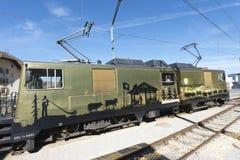 Chocolate train, Switzerland Royalty Free Stock Images
