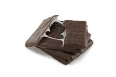 Chocolate treats. On white background Royalty Free Stock Images