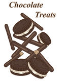 Chocolate treats Stock Images
