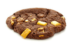 Chocolate Triple Chip Cookie. Triple chocolate chip cookie on isolated white background Royalty Free Stock Images