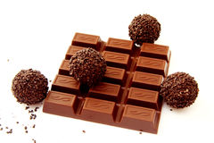 Chocolate and a truffle  1 Royalty Free Stock Photos