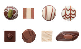 Chocolate truffle assortment Stock Images