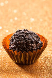 Chocolate truffle ball Stock Photos