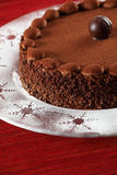 Chocolate truffle cake Stock Images