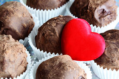 Chocolate truffle close up Stock Photo