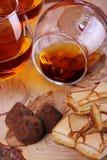 Chocolate truffle and cognac Royalty Free Stock Photo