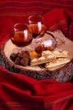 Chocolate truffle and cognac Stock Photo