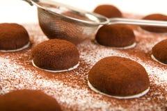 Chocolate truffle cookies Royalty Free Stock Image