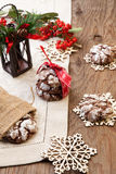 Chocolate - Truffle Cookies for Christmas Stock Image