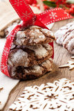 Chocolate - Truffle Cookies for Christmas Royalty Free Stock Photo
