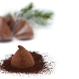 Chocolate truffle gift for the new year Stock Image