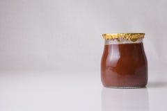 Chocolate truffle glass Stock Photography