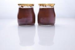 Chocolate truffle glass Royalty Free Stock Photo