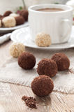 Chocolate truffle, homemade dessert Royalty Free Stock Image