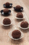 Chocolate truffle, homemade dessert Stock Photography