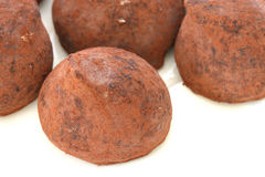 Chocolate truffle pralines sweets Royalty Free Stock Images