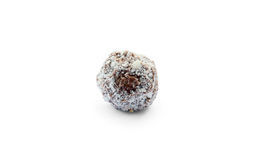 Chocolate truffle strewed with white chocolate Stock Images