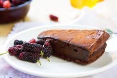 Chocolate truffle torte Royalty Free Stock Image