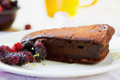 Chocolate truffle torte Stock Image