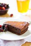 Chocolate truffle torte Stock Photos
