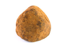 Chocolate truffle on white Royalty Free Stock Image