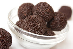 Chocolate truffles. Isolated on white background royalty free stock photos