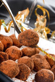 Chocolate truffles Royalty Free Stock Photography